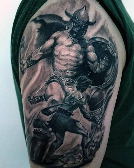30 David And Goliath Tattoo Designs For Men Manly Ideas Ideas And Designs