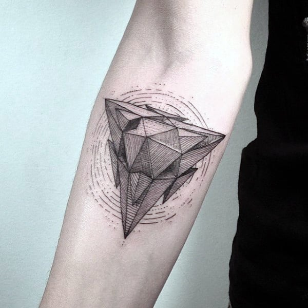 90 Triangle Tattoo Designs For Men Manly Ink Ideas Ideas And Designs