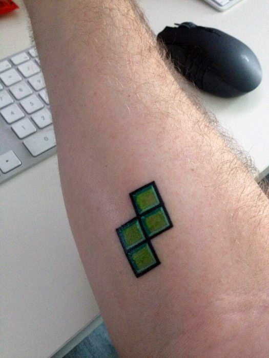 40 Tetris Tattoo Designs For Men Video Game Ink Ideas Ideas And Designs