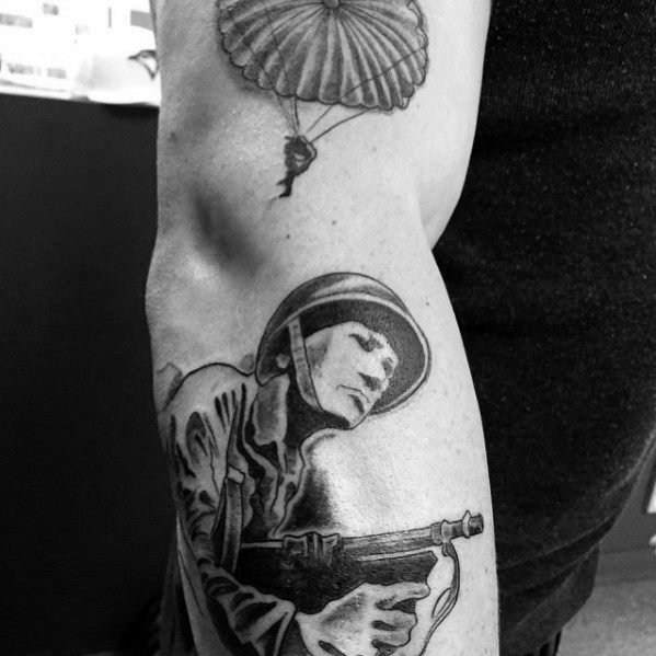 30 Parachute Tattoo Designs For Men Sky Diving Ink Ideas Ideas And Designs