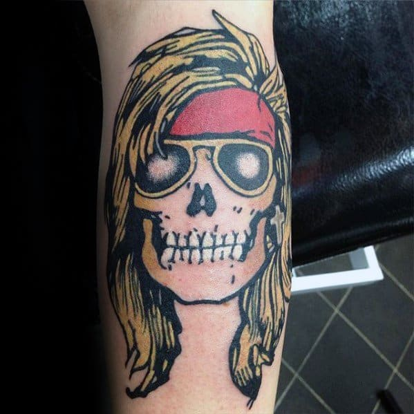 40 Guns And Roses Tattoo Designs For Men Hard Rock Band Ideas And Designs