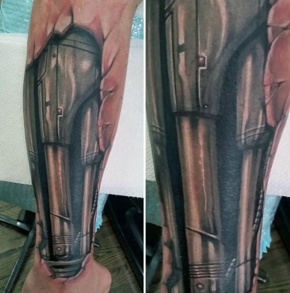 60 Terminator Tattoo Designs For Men Manly Mechanical Ideas And Designs
