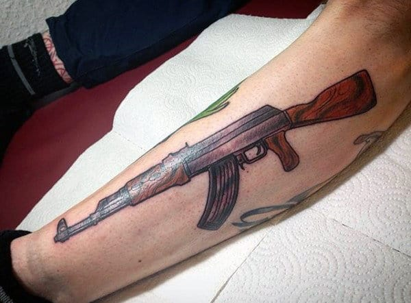 40 Ak 47 Tattoo Designs For Men An Arsenal Of Ideas Ideas And Designs