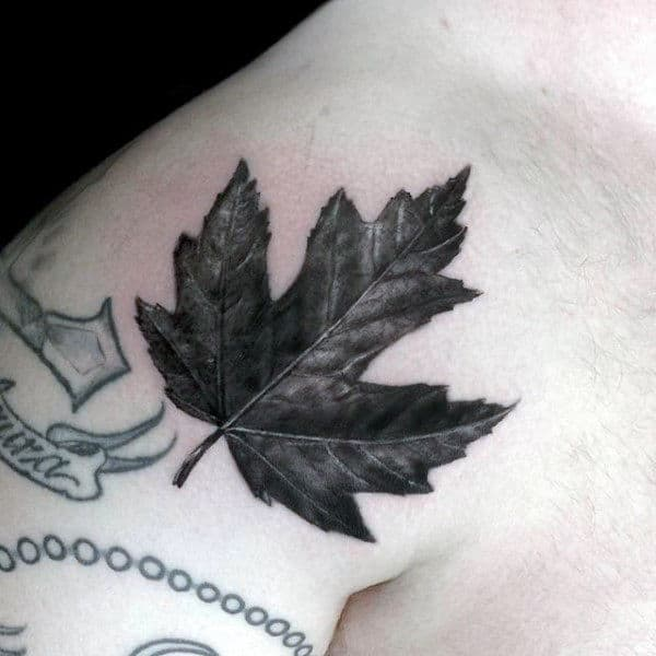 80 Maple Leaf Tattoo Designs For Men Canadian And Ideas And Designs