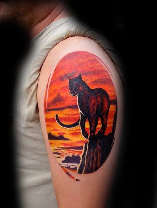 40 Mountain Lion Tattoo Designs For Men Animal Ideas Ideas And Designs