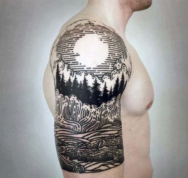 80 Woodcut Tattoo Designs For Men Engraved Ink Ideas Ideas And Designs