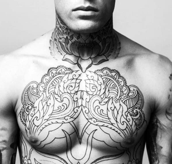 Top 40 Best Neck Tattoos For Men Manly Designs And Ideas Ideas And Designs