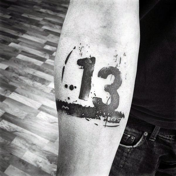70 Number Tattoos For Men Numerical Ink Design Ideas Ideas And Designs