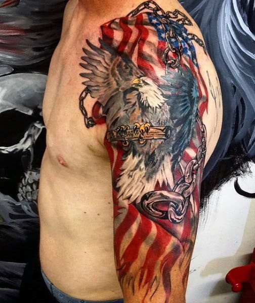 40 Chain Tattoos For Men Manly Designs Linked In Strength Ideas And Designs
