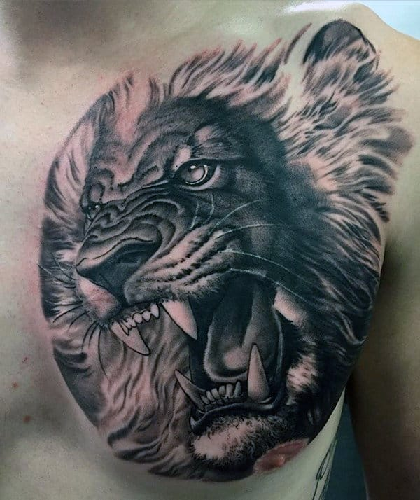 70 Lion Chest Tattoo Designs For Men Fierce Animal Ink Ideas Ideas And Designs