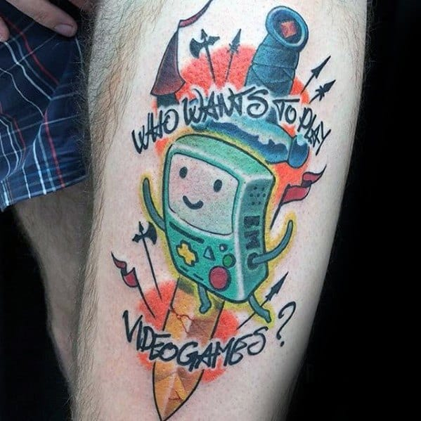60 Adventure Time Tattoo Designs For Men Animated Ink Ideas Ideas And Designs