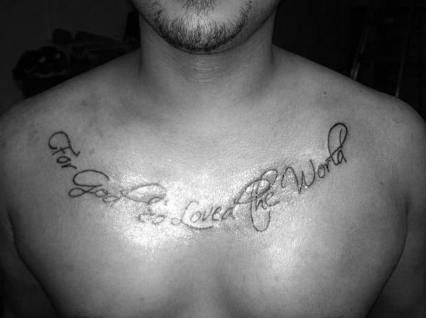 30 John 3 16 Tattoo Designs For Men Religious Ink Ideas Ideas And Designs