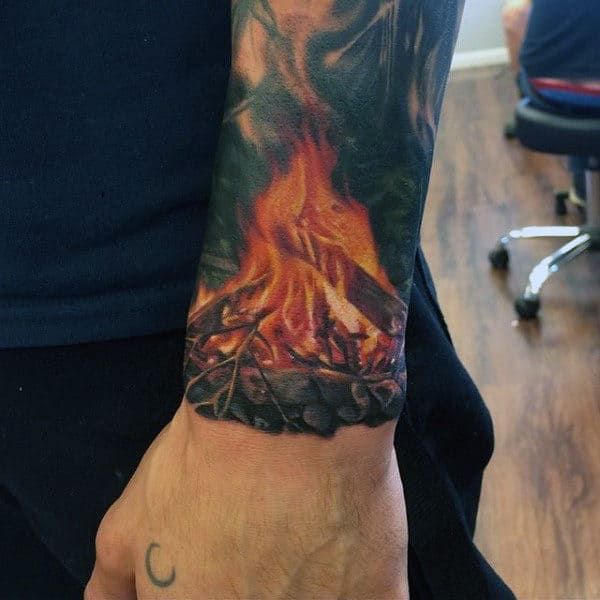 Top 60 Best Flame Tattoos For Men Inferno Of Designs Ideas And Designs