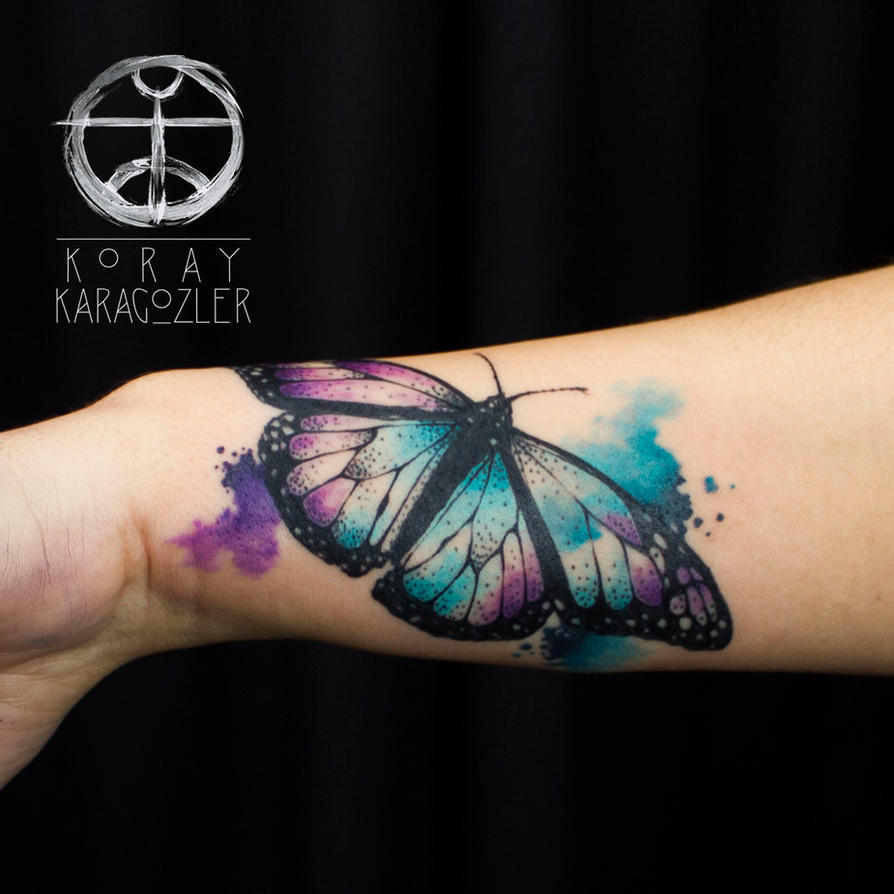 Watercolor Abstract Butterfly By Koraykaragozler On Deviantart Ideas And Designs