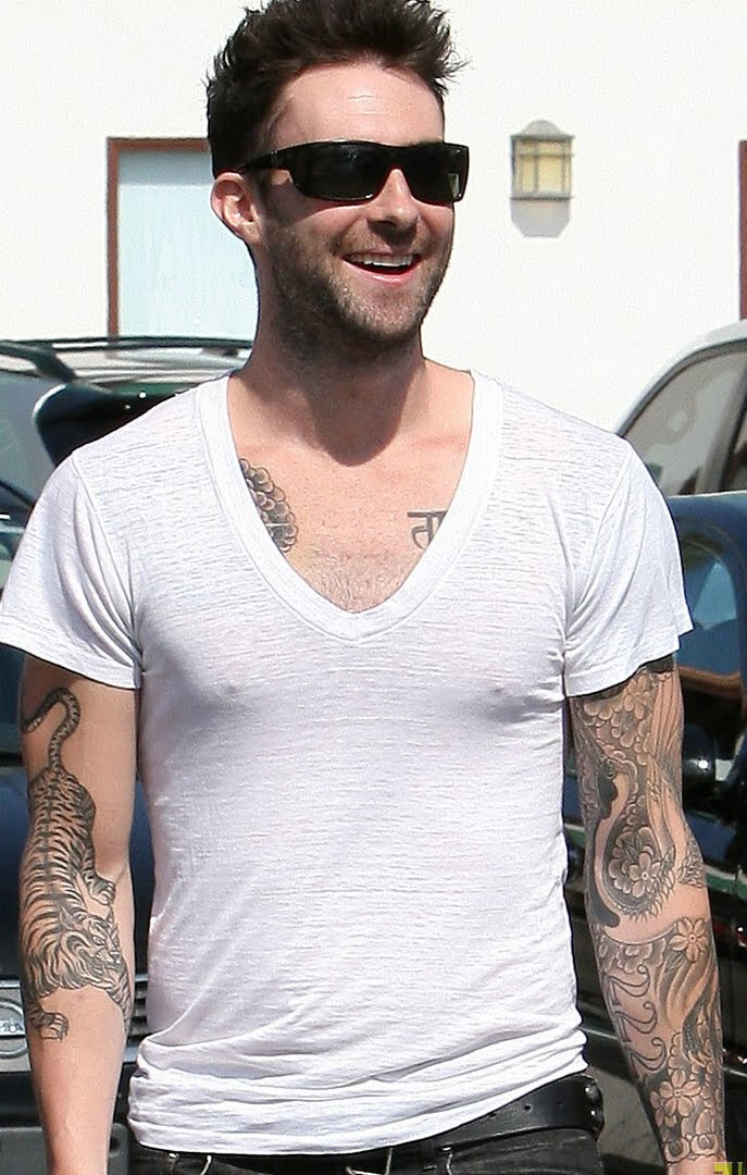 World Famous Celebrities Adam Levine And Full Tattoos On Ideas And Designs