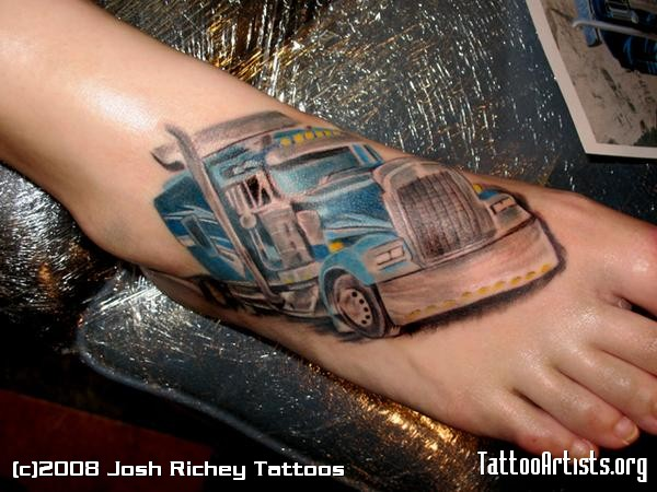 18 Wheel Beauties The Hunt For Big Rig Tattoos Ideas And Designs