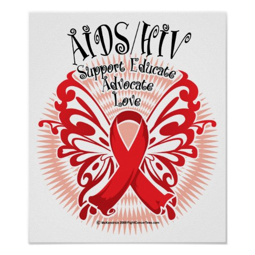 Aids H*V Butterfly 3 Print Zazzle Ideas And Designs