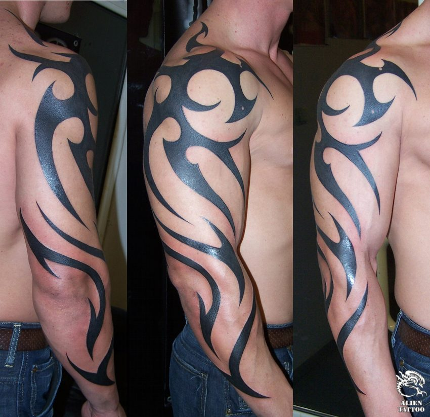 Arm Tribal Tattoos For Men 01 Ideas And Designs