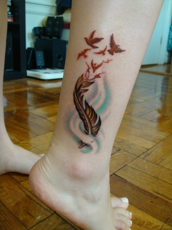 25 Adorable Feather Tattoos Slodive Ideas And Designs