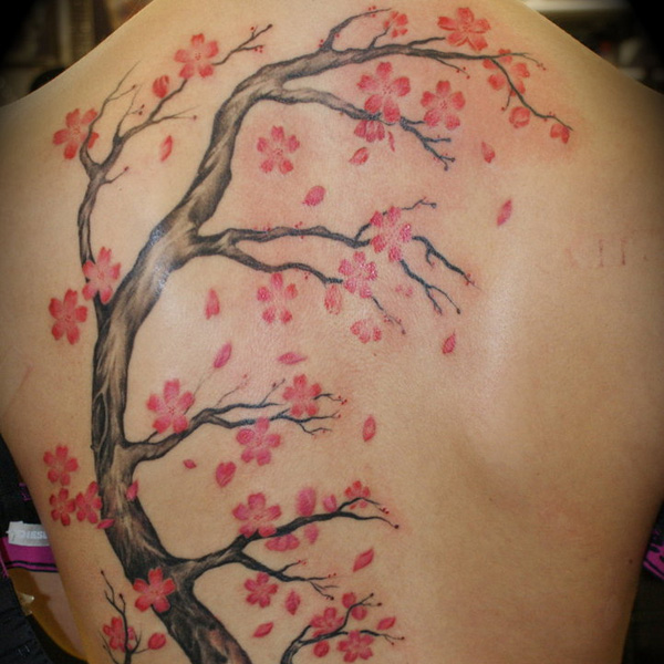 30 Artistic Cherry Blossom Tree Tattoo Slodive Ideas And Designs