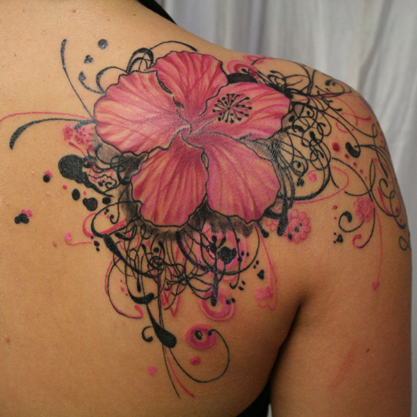 27 Colorful Hibiscus Flower Tattoos Slodive Ideas And Designs