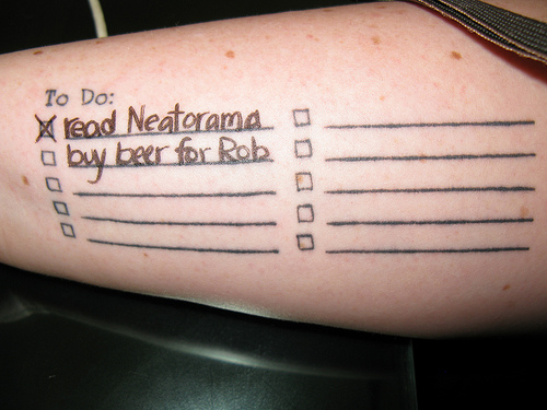 A Better To Do List Tattoo Neatorama Ideas And Designs