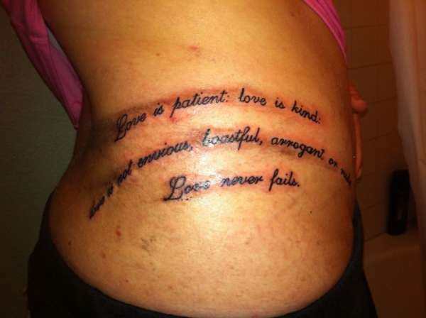 1 Corinthians 13 4 Tattoo Ideas And Designs