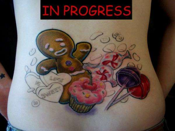 Candyland Tattoo Ideas And Designs