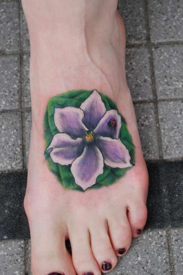 African Violet Tattoo Ideas And Designs