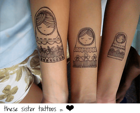 Lovely Sister Tattoo Designs With Photos Slodive Ideas And Designs