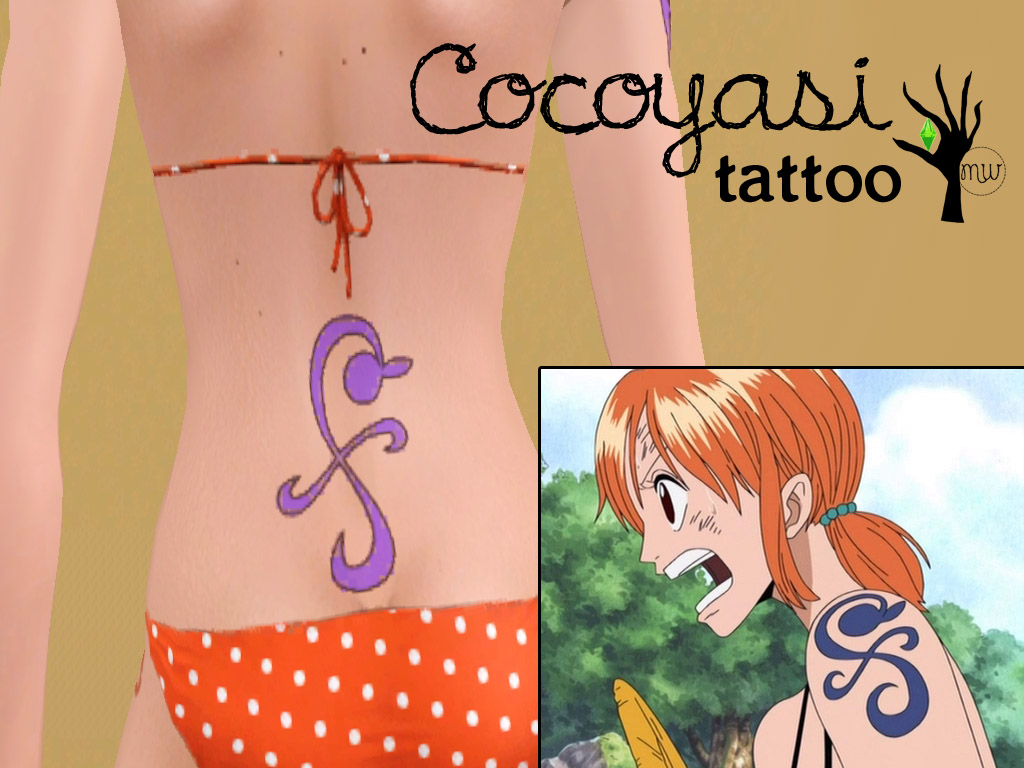 Mod The Sims Straw Hat Pirates Nami Tattoo Set Ideas And Designs