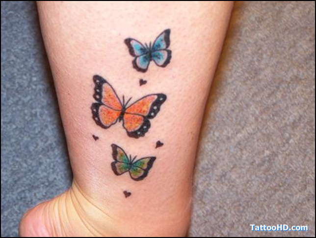 Butterfly Tattoos On Ankle Ideas And Designs