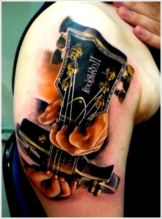 25 Creative Guitar Tattoo Designs Ideas And Designs