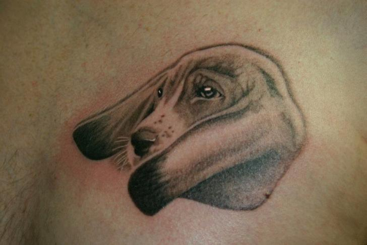 Realistic Dog Tattoo By 46 And 2 Tattoo Ideas And Designs