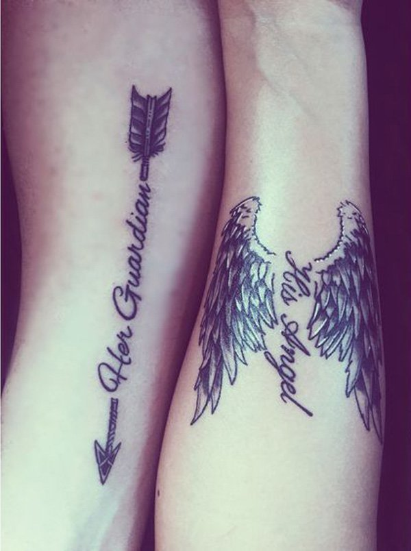 Amazing Photographs Of Couple Tattoos Incredible Snaps Ideas And Designs