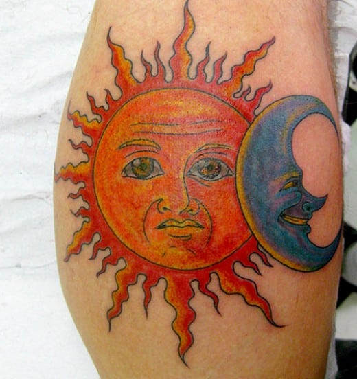Sun And Moon Tattoos For Men Ideas And Designs
