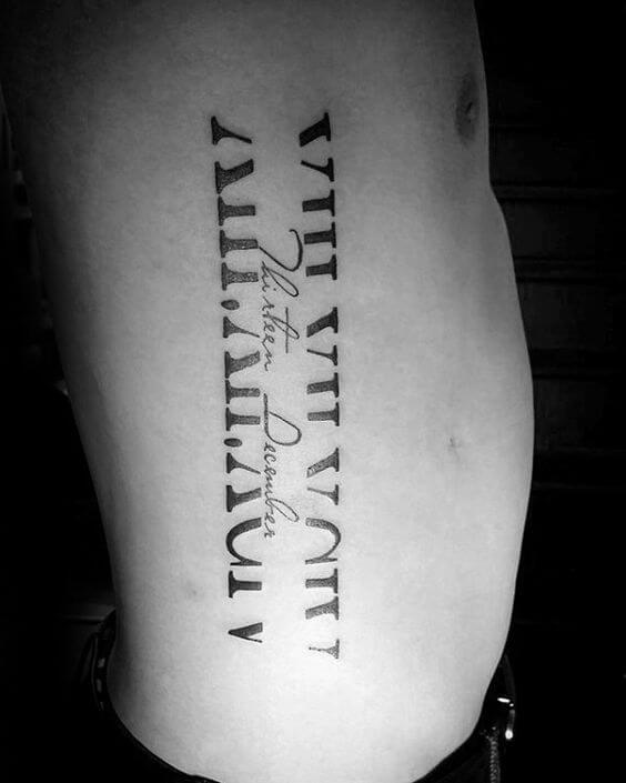 Roman Numeral Tattoos For Men Ideas And Designs For Guys Ideas And Designs