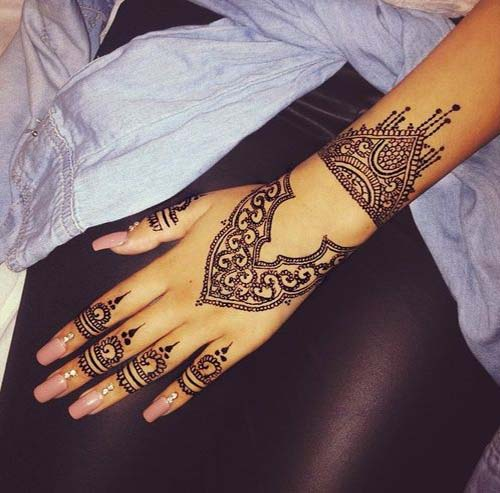 30 Beautiful And Simple Henna Mehndi Designs Ideas For Hands Ideas And Designs