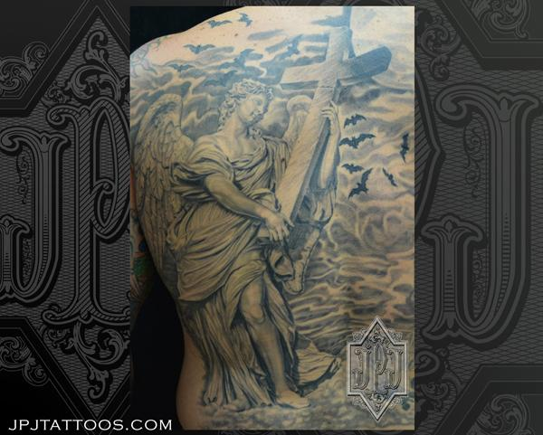 Angel Statue Tattoos Ideas And Designs