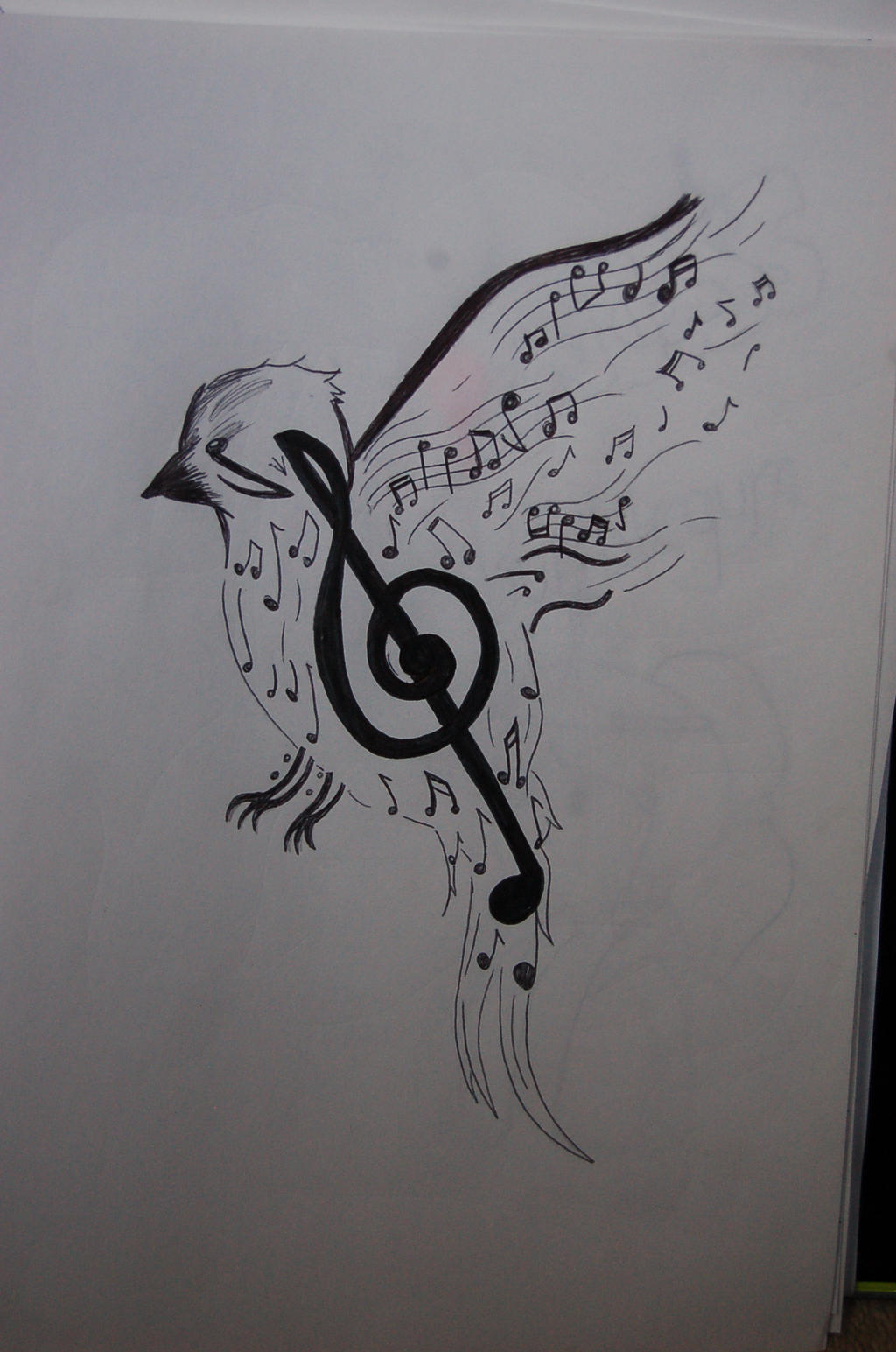 Music Bird Tattoo Design By Pifferz On Deviantart Ideas And Designs