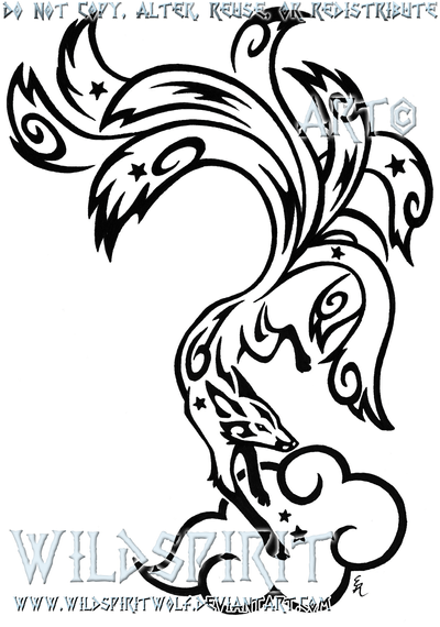 Starry Nine Tailed Fox Tattoo By Wildspiritwolf On Deviantart Ideas And Designs
