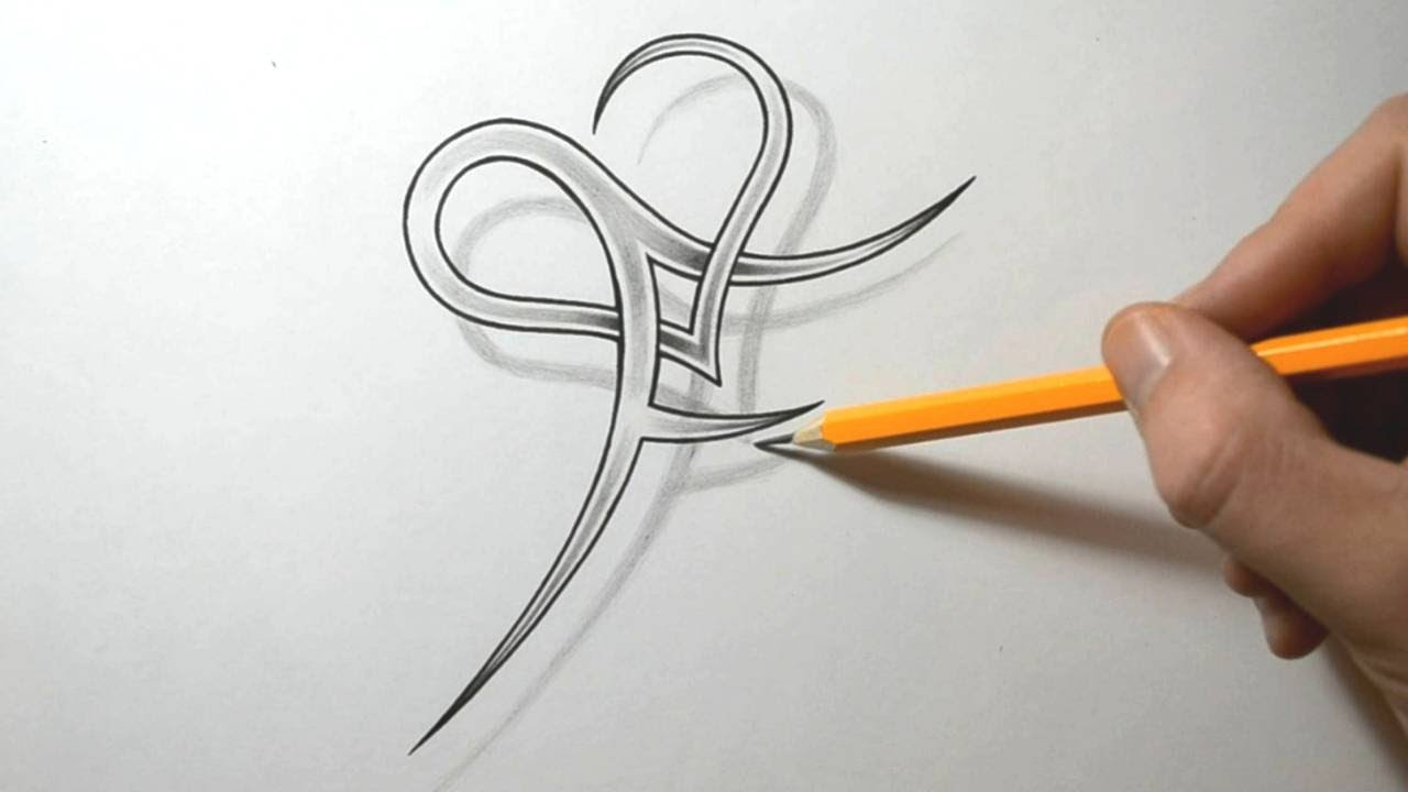 Initial F And Heart Combined Together Letter Tattoo Ideas And Designs