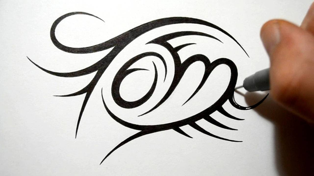 Creating Tribal Name Tattoo Design Tom Youtube Ideas And Designs