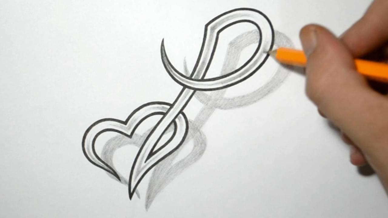 Designing Letter P And Heart Combined Tattoo Design Ideas And Designs