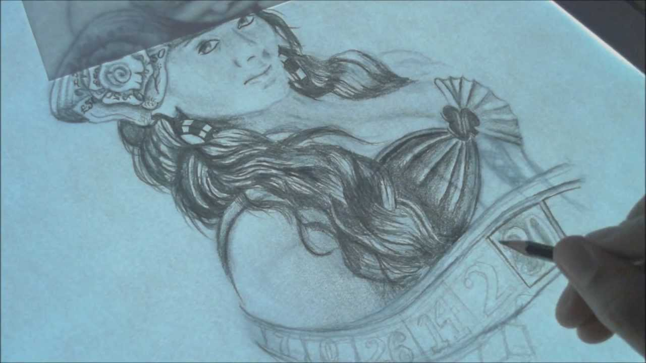 Pin Up Girl Tattoo Design Speed Drawing Time Lapse Ideas And Designs