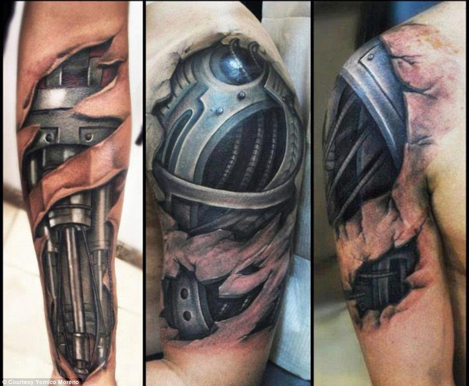 Yomico Moreno Hyper Realistic Tattoos Show Surreal Images Ideas And Designs