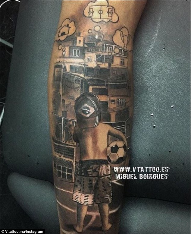 Neymar Has New Leg Tattoo As Barcelona Star Remembers His Ideas And Designs