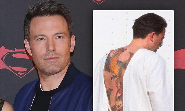 Ben Affleck Reveals His Giant Back Tattoo Of A Phoenix Is Ideas And Designs
