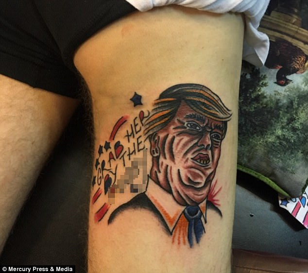 Chef Gets Donald Trump Grab Her By The P Y Tattoo Ideas And Designs