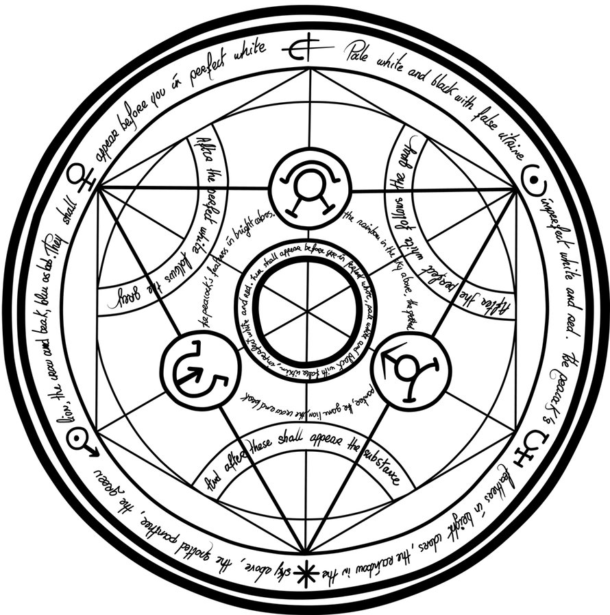 Fma Series What Are The Transmutation Circles In Ideas And Designs